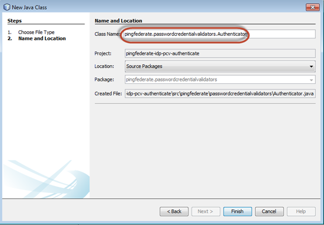 Developing and configuring a custom password credential